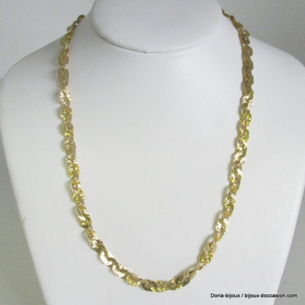 Collier En Maille Fantaisie Or 18 Carats De 10.20g