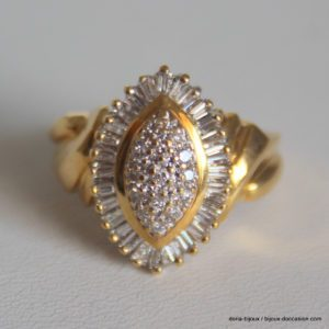 Bague 30 Diamants Or Jaune 750/000