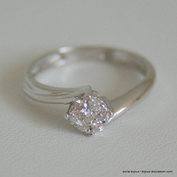 Bague Or Gris 750/000 7 Diamants 2.4grs