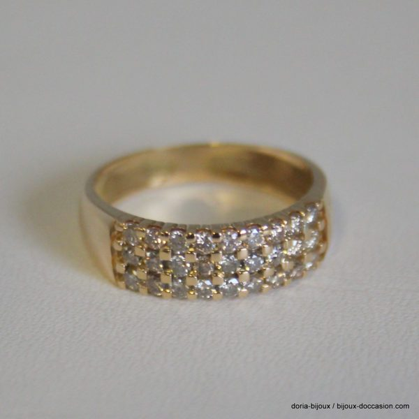 Bague Or Gris 18k 27 Diamants 0.54 Carats 2.6grs