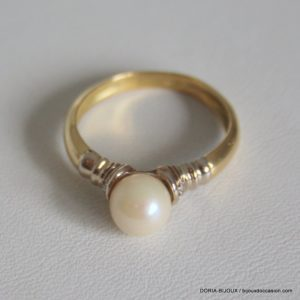 Bague Perle Or 18k 750/000 3.2grs- 56-