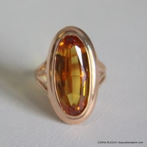 Bague Or 18k 750 Citrine- 3.5 Grs -49-
