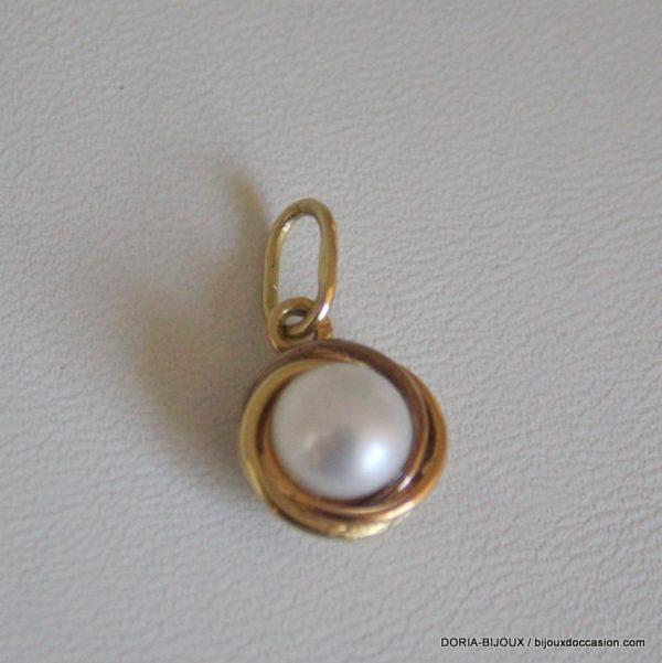 Pendentif Or 18k 750 Perle 2.3grs