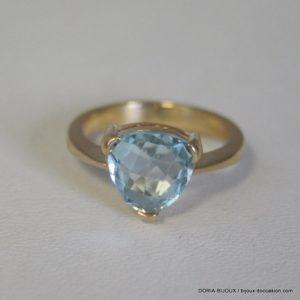 Bague Or Jaune 18k 750 Topaze 4.3grs - 52