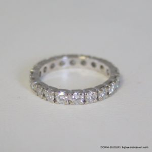 Bague Or 750/18k Tour Complet Diamants 2.6grs -51