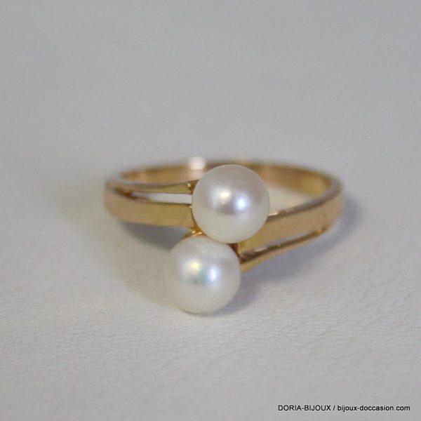 Bague Perle Or 18k 750/000 4.1grs- 57-