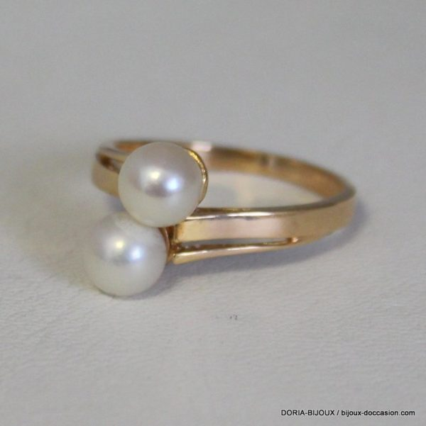 Bague Perle Or 18k 750/000 4.1grs- 57-