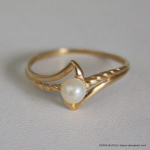 Bague Perle Or 18k 750/000 1.6grs- 59-