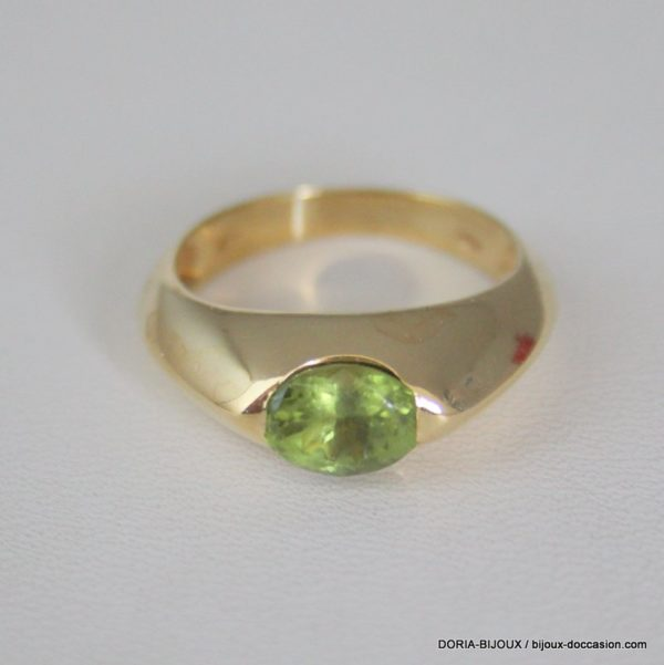 Bague Or 18k 750/000 Peridot 7grs -54-
