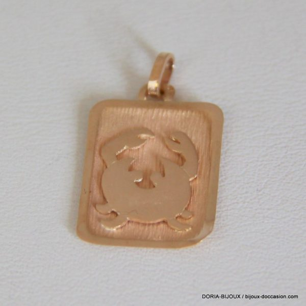 Pendentif Or Astro. Cancer 18k 750/000 - 1.5 Grs