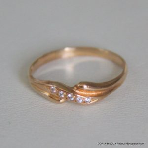 Bague Or Bicolor 18k, 750/000 Oxyde 1.5grs -54-