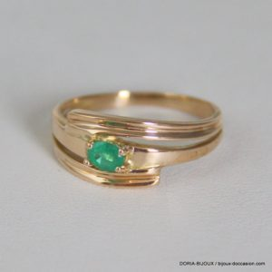 Bague Or 18k 750/000 Emeraude 3.2 Grs -56