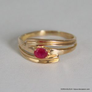 Bague Or 18k 750/000 Rubis 3.1grs -54-