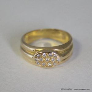 Bague Or Jaune 18k 750 - Diamants - 4.3 Grs - 51