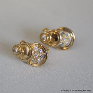 Boucles D' Oreilles Clip Diamants 0.44ct - Or 18k-