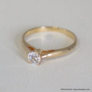 Bague Solo Or Jaune 18k, 750 Oxyde 2.5grs -53-