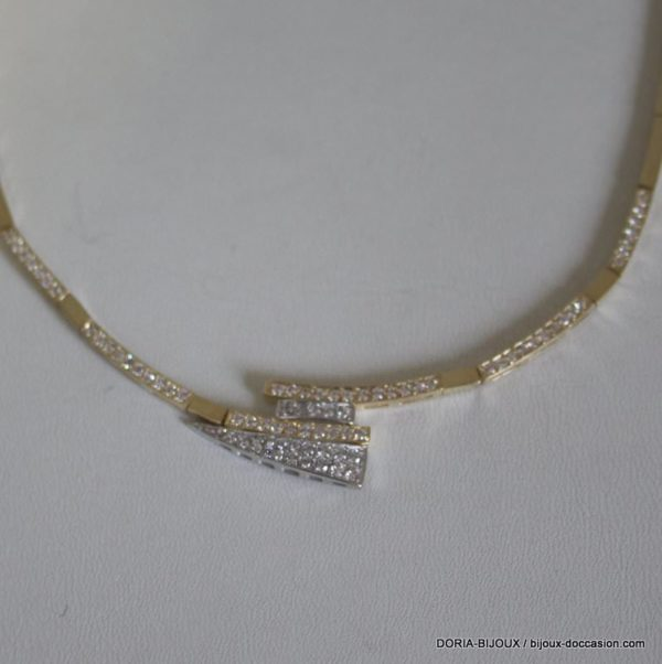 Collier Or 14k 585/000 Oxydes De Zirconium. 19.2grs