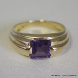 Bague Or 18k 750 Amethyste 4.8grs-