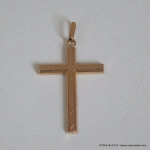 Pendentif Croix Or Jaune 18k, 750/000 - 1.1grs