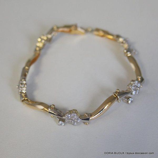 Bracelet Or Gris 18k, 750/000 Oxydes 17grs
