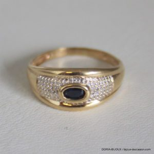 Bague Or 18k 750 Saphir 2.3grs - 55