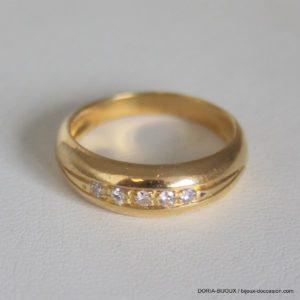 Bague Or 750 18k Tour Complet Diamants 3.6grs -54