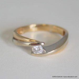 Bague Or 18k 750 Diamant 0.20ct 4.2grs -59-