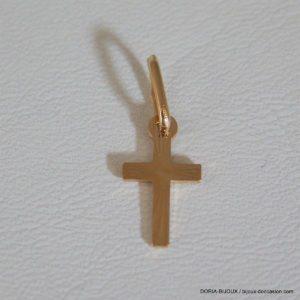 Pendentif Religieux Croix Or 18k 750/000 -0.5grs