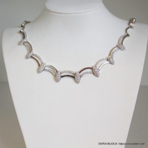 Collier Or Gris 18k 750 Oxydes - 44cm- 30.2grs
