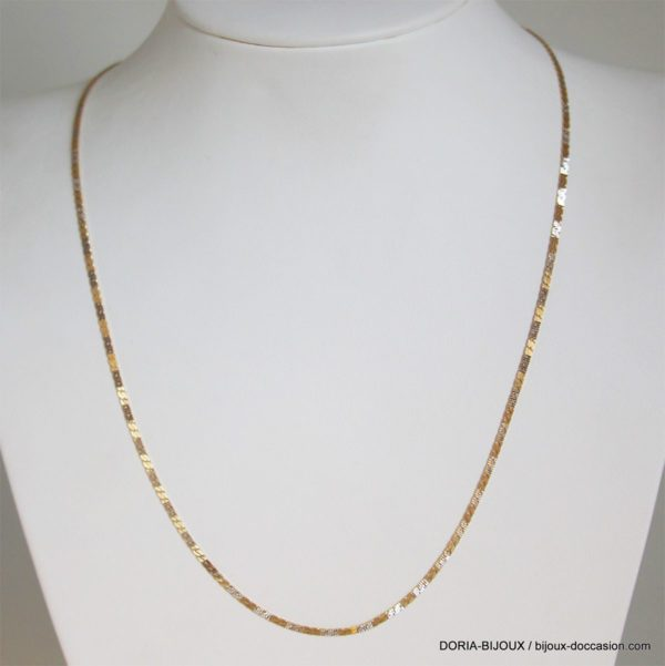 Collier Or 18k 750 Maille Fantaisie 5.6grs - 45cm