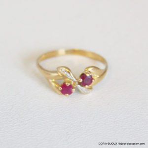 Bague Or 18k 750/000 Rubis 1.5grs - 51