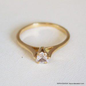 Bague Or 18k, 750 Solitaire Diamant 0.35 Carats -58-
