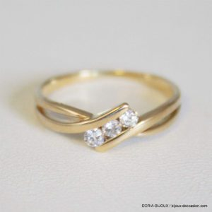 Bague Or 18k Trilogie Diamants - 1.8grs -49