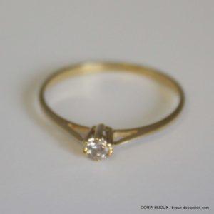bague or 18k 750 diamant 0.10ct 1GRS -52-