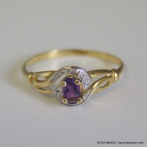 bague or 18k 750 amethyste 1.4grs- 51