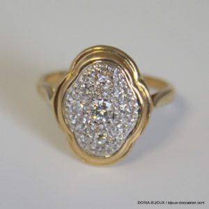 Bague or 18k multi - diamants -3.6grs- 53