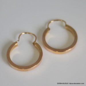 boucles d'oreilles créoles or 18k 750- 2.2grs
