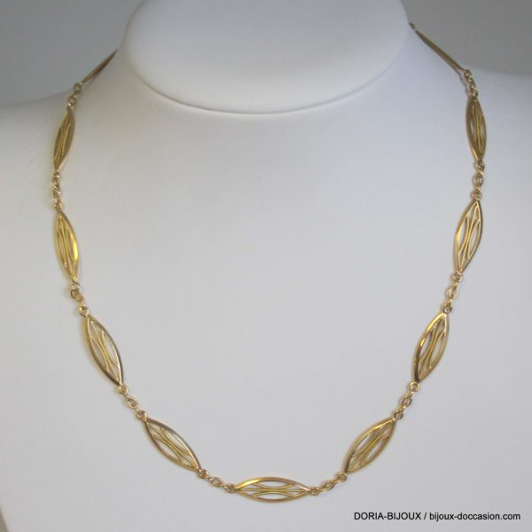 Collier or 18k 750 maille fantaisie 11.8grs - 39cm