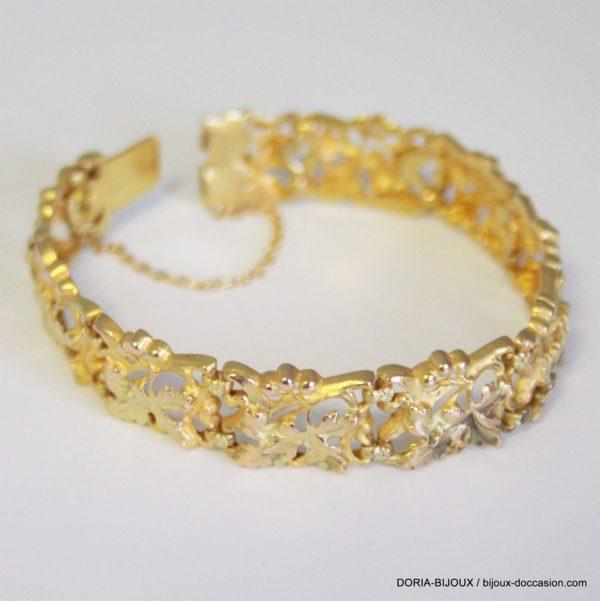 Bracelet Or 750 18k Maille Fantaisie17cm- 22.6grs
