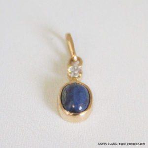 Pendentif Or 18k 750 Lapis Lazuli Et Oxyde -1.4grs