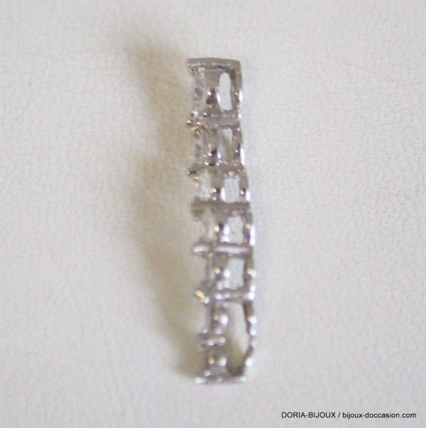 Pendentif Or Gris 18k 750 Diamants 0.9grs