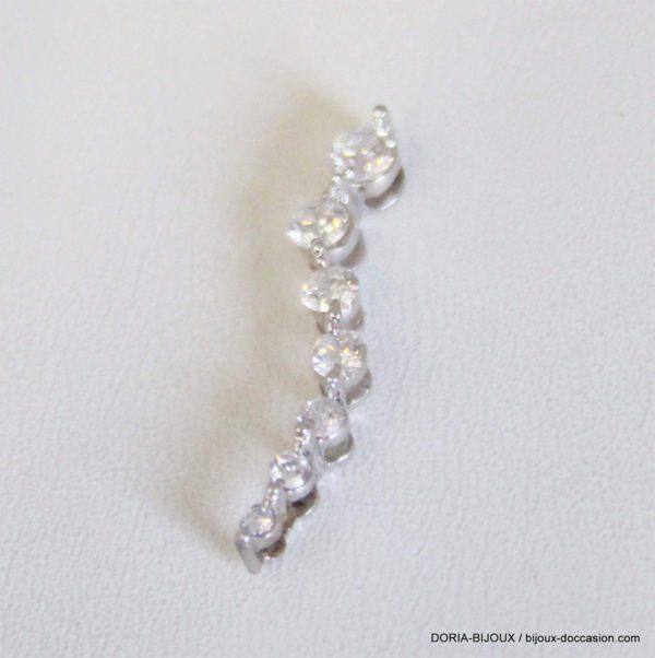 Pendentif Or Gris 18k 750 Diamants 0.9grs