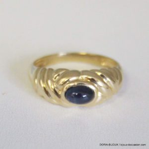Bague Or 18k 750/000 Saphirs Cabochon 4.1grs -51