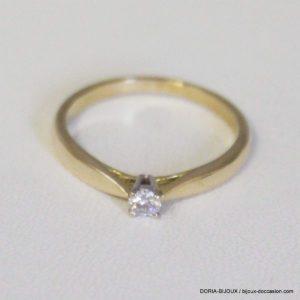 Bague Or Solitaire Diamant 0.10 Carats 2.1grs - 49-