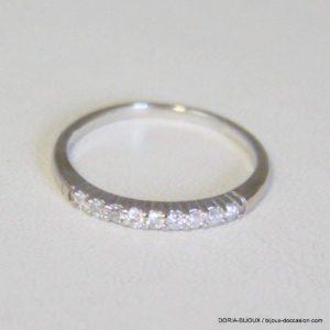 Bague Or 18k 750 Demi Alliance Diamants - 1.7grs- 52