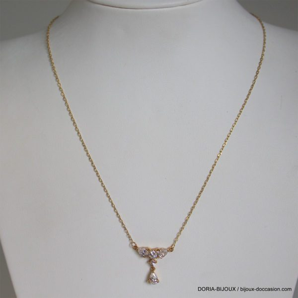 Collier Or Gris 18k 750 Oxydes - 42cm- 3.2grs