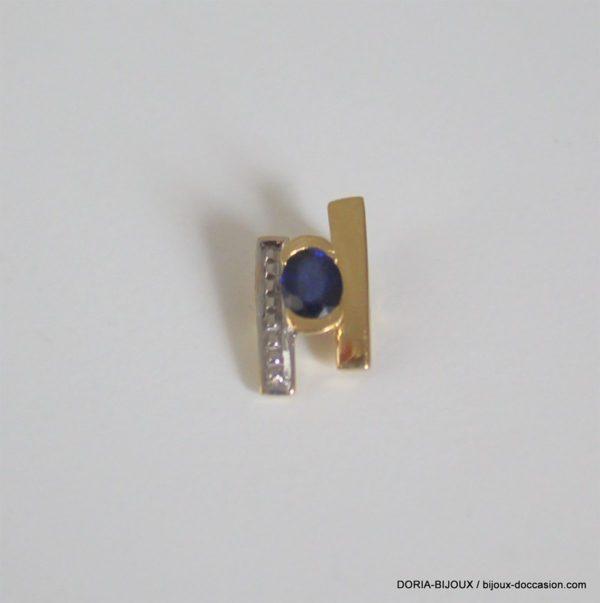 Pendentif Saphir Or Bicolore 18k 750 - 0.7grs