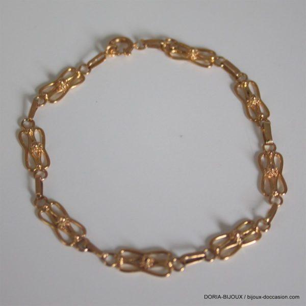 Bracelet Or 750 18k Vintage 18cm- 6.3grs