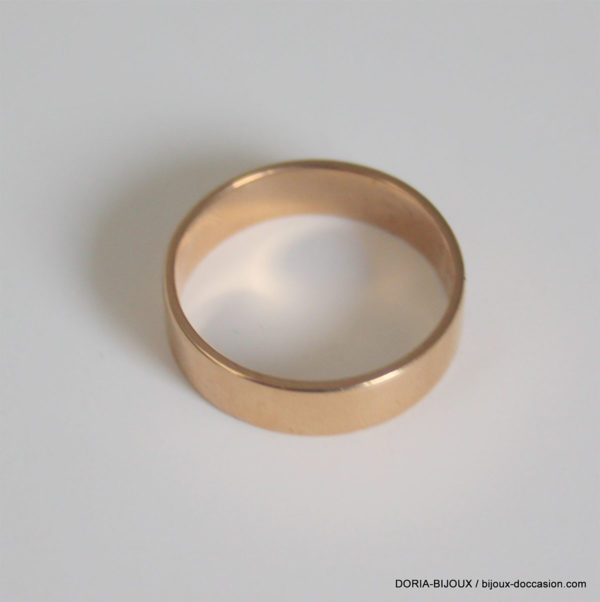 Bague Alliance Or Jaune 18k, 750 - 6.1grs- 62
