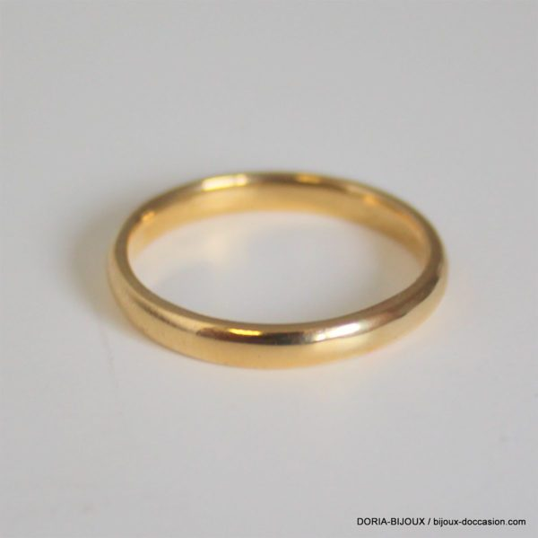 Bague Alliance Or Jaune 18k, 750 - 2.8grs- 54